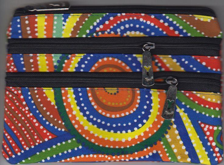 Yijan 3Z Cosmetic Bag Two Boys Country Artist: Gordon Landsen Milyindirri Code: YI-COS-3Z-16 Price: $14.00 or 2 for $26.00