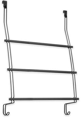 InterDesign® 3-Bar Over-the-Door Towel Rack in Matte Black