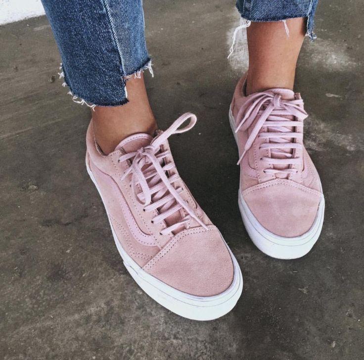 Pink Vans/ Vans sneakers roze / dusty roze sneakers Vans old skool