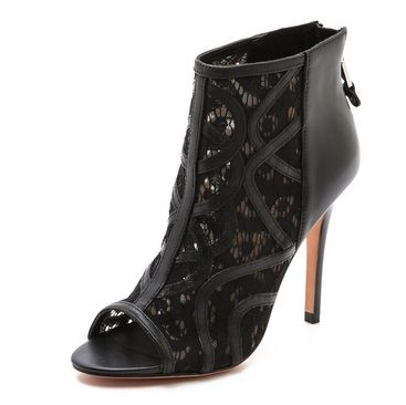 Sexy Rebecca Minkoff Moss Open Toe Booties. They make us want a hot Saturday night date.: Minkoff Moss, Open Toe Booties, Rebecca Minkoff, Moss Open, Minkoff Open, Minkoff Booty, Lace Booty, Open Toe Booty, Edge Meeting