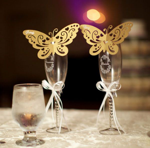 How to make Butterfly Wedding Place Cards with Silhouette Cameo / Create & Babble