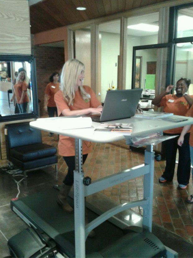 Treadmill desk.  Not sure about this....   Can you CONCENTRATE???!!??