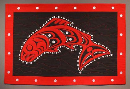 Salmon button blanket.