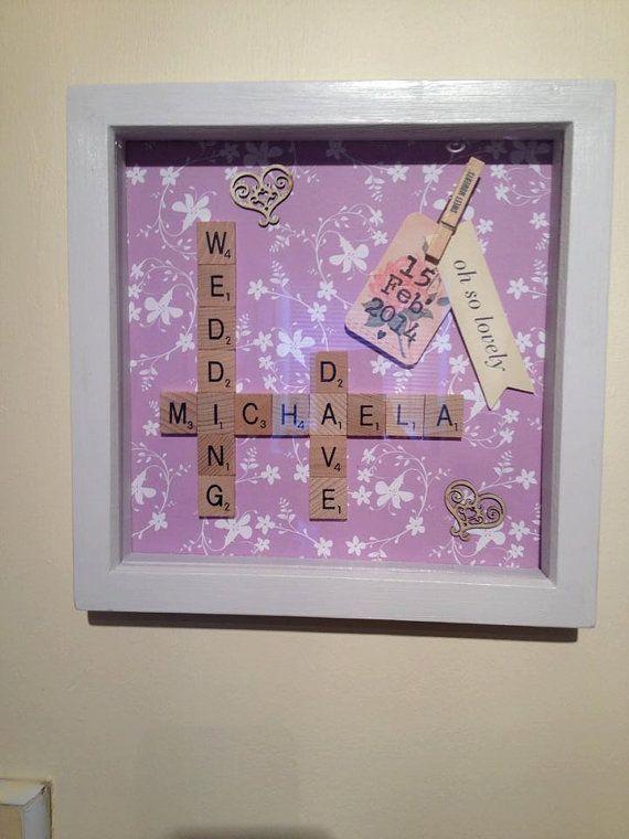 Scrabble Art wedding picture frame on Etsy, £19.99