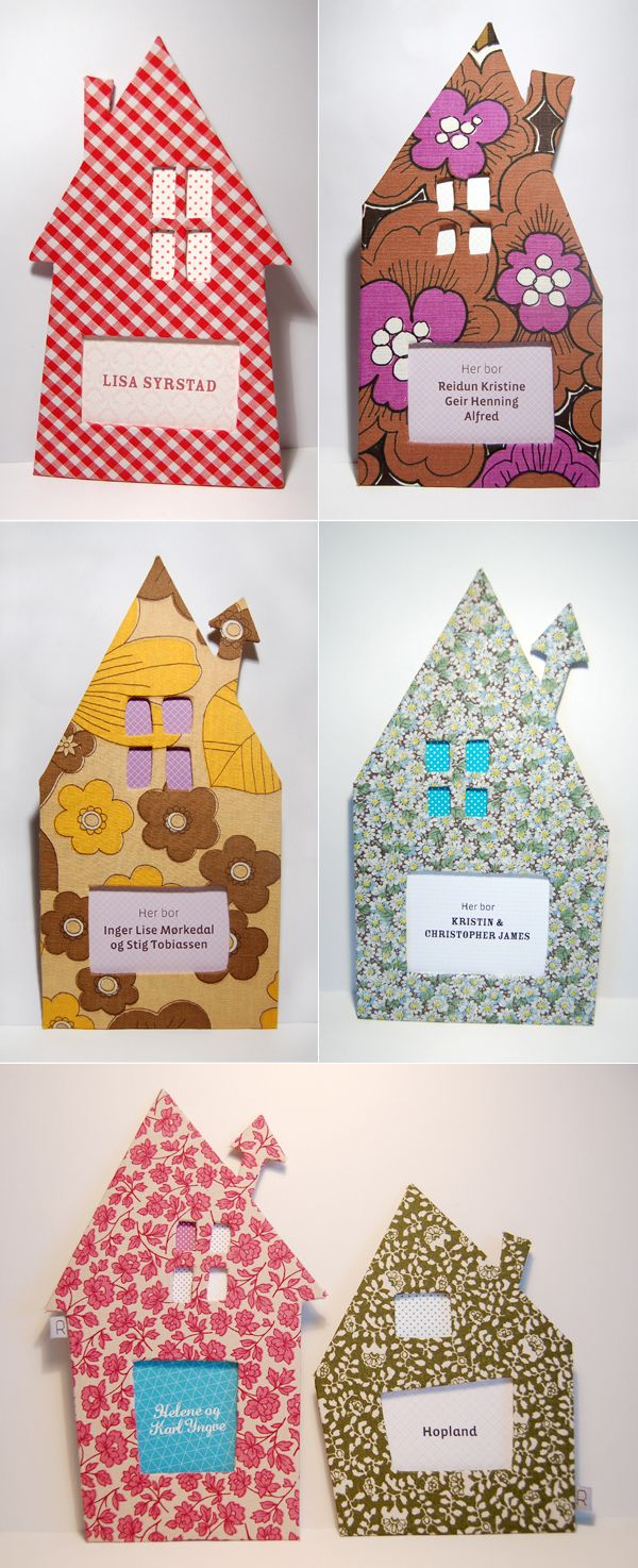 DIY door sign made out of cardboard (Ingrid Riddervold - This and that!)