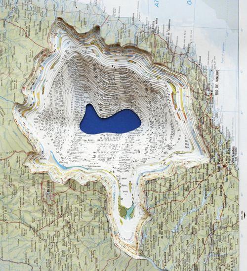 Maya Lin.  Atlas Landscape. 2006