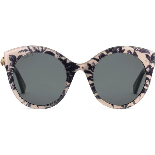 72244288e4 Gucci Oversize Cat Eye Acetate Sunglasses ( 335) ❤ liked on Polyvore  featuring accessories