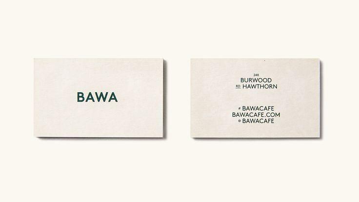 Bawa Cafe - Business Card Design. Design by Foolscap Studio.