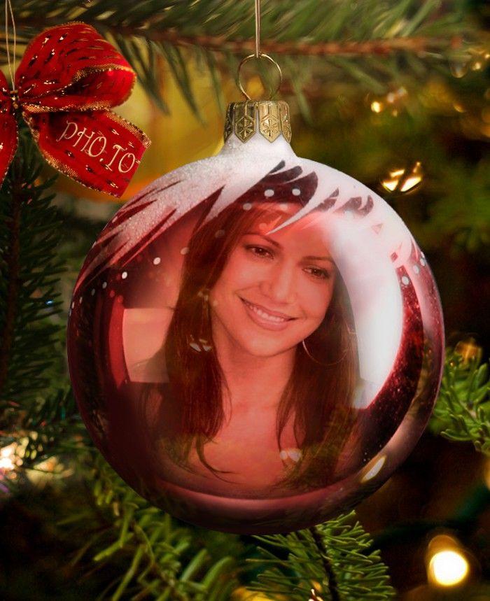 Fotomontaje gratis en adorno de navidad