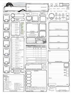 Fully-Loaded 5E Character Sheet | D&D Homebrew | Pinterest