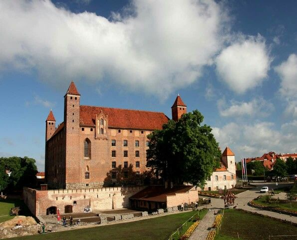 Teutonic Fortress of Gniew (now in Poland). It was used by the Order in the 13th and 14th Centuries.