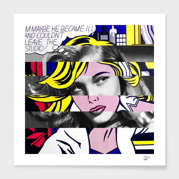 Discover «Roy Lichtenstein's M-Maybe & Lauren Bacall», Exclusive Edition Fine Art Print by Luigi Tarini - From $25 - Curioos