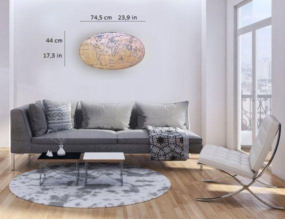 Wooden world map www.gnusfurniture.it