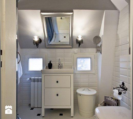 Metamorfoza - Łazienka na poddaszu, styl eklektyczny - zdjęcie od Aleksandra Bartkiewicz bathroom design | white interior | inspiration | details | vintage | rustic |
