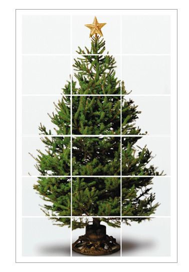 Printable, 4 ft tall Christmas tree! We did this one year when we were going to be travelling and didn't have a tree. It was actually pretty cool looking. :)