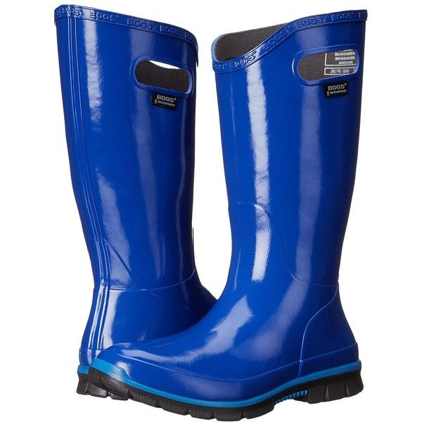 Bogs Berkley Women's Rain Boots ($85) ❤ liked on Polyvore featuring shoes, boots, mid-calf boots, waterproof rubber boots, wellies boots, slip on boots, lined rain boots and mid calf rain boots