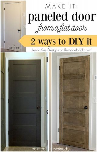 5 Panel Door from a Flat Hollow Core Door | Remodelaholic | Bloglovin