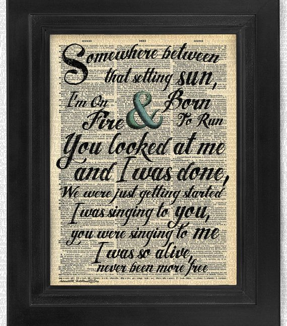 Hey, I found this really awesome Etsy listing at https://www.etsy.com/listing/198380618/country-song-lyric-on-antique-dictionary