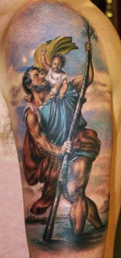 Realism Religious Tattoo by Electric Linda
