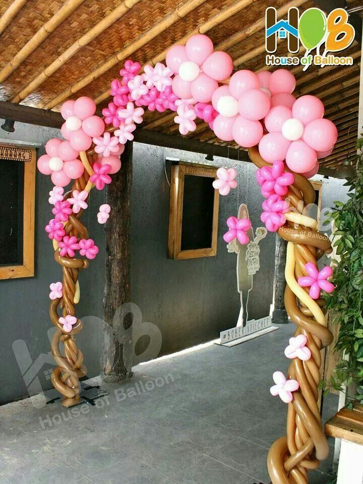 Arco árboles de flores con globos   -   Flowers tree gate,,,