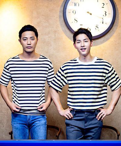 Jin Goo & Song Joong Ki - Loved the part when they wore the same shirts!!!