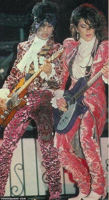 Prince & The Revolution. Mi gran amigo Prince con su guitarrista hermosa.