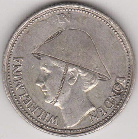 Nu in de #Catawiki veilingen: Nederland  - 25 Cent 1941 Wilhelmina met helm in Londen