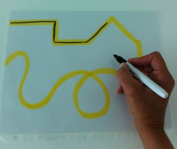 Mazes to build fine motor skills