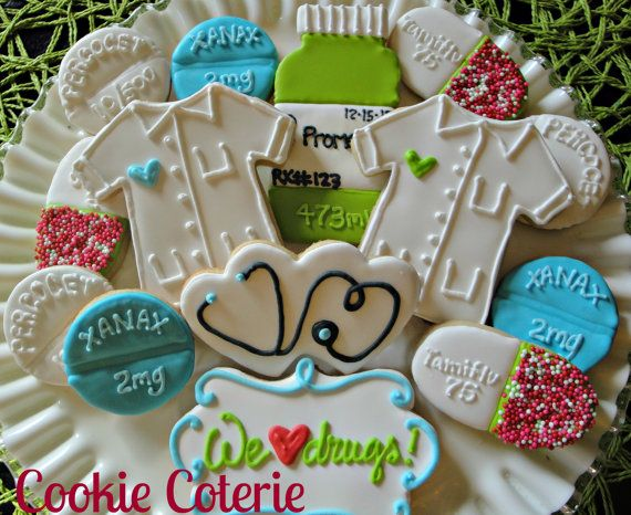 Doctor Nurse Pharmacist Decorated Cookies One by CookieCoterie, $30.00