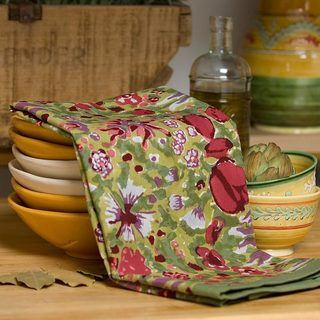 Jardine Red/ Green Tea Towels (Set of 3) - Overstock™ Shopping - Great Deals on Kitchen Towels