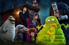 Hotel Transylvania characters : Dracula, Frankenstein's monster, Jack Griffin, Murray the Mummy, Vlad, Mavis and Jonathan.