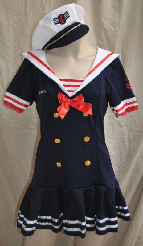 Womens Teens Sailor Sweetie Navy Costume