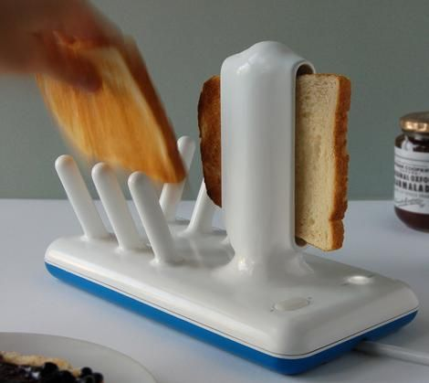 Ceramic toaster. No more morning heart attacks when the toast shoots out.