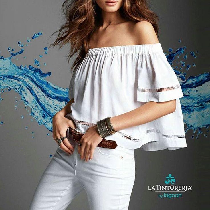 Viste tu blusa favorita con los hombros al descubierto sin miedo a que se ensucie ya que en #latintoreriard nos encargamos de que siempre luzcas impecable. #wetcleaning #fashiontrends