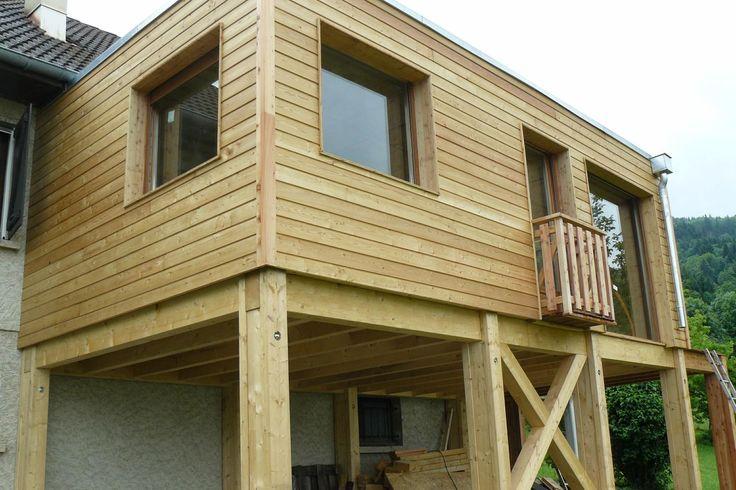 extension de maison ossature de bois extension bois pinterest meilleures id es extension. Black Bedroom Furniture Sets. Home Design Ideas