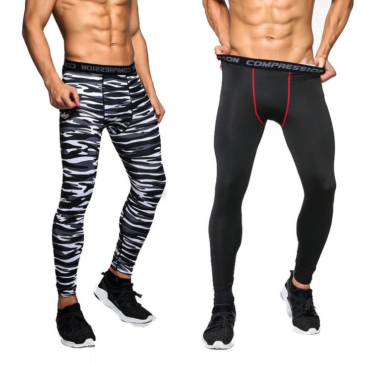 Gyms Men Compression Pants Casual Tights Camouflage Pants Bodybuilding Mans High Elasticity Crossfit Skinny Leggings
