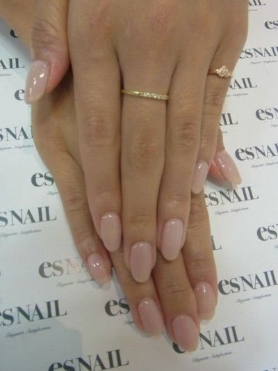 Acrylic nails neutral colors - natural nails