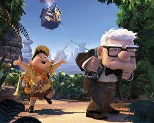 Carl Fredricksen and Russell Up Movie Wallpaper