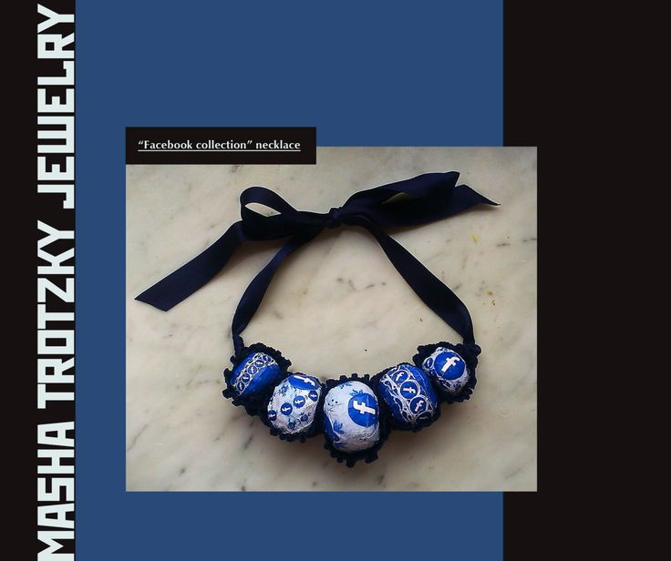 Facebook necklace by MashaTrotzkyJewelry on Etsy