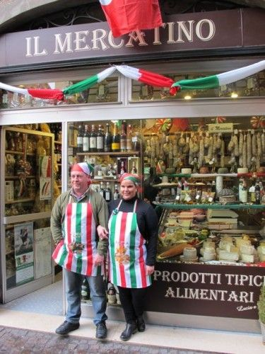 Shops (and shopkeepers), Lucca, Italy, province of Lucca, Tuscany