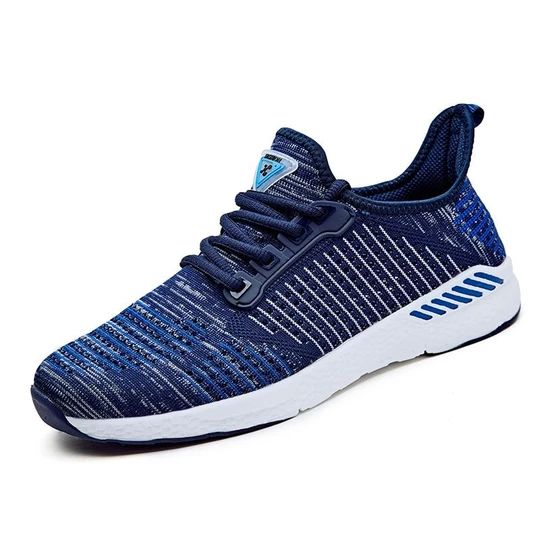 2018 New Men Sport Mesh Shoes Adult Comfort Breathable Lace Up Footwear Outdoor Unisex Size Shoes Trainers Sneakers Lovers Shoes