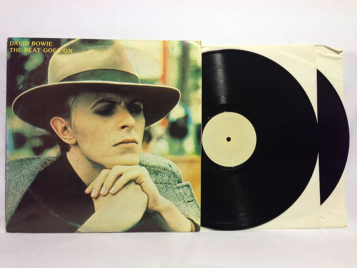 David Bowie The Beat Goes On - Rare Vinyl Record LP Tan Blank Labels