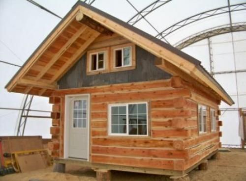 40 best small log cabins images on pinterest tiny house for Square log cabin
