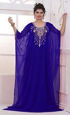 Королевский синий Дубай кафтан Farasha Jalabiya Абая марокканский платье макси…