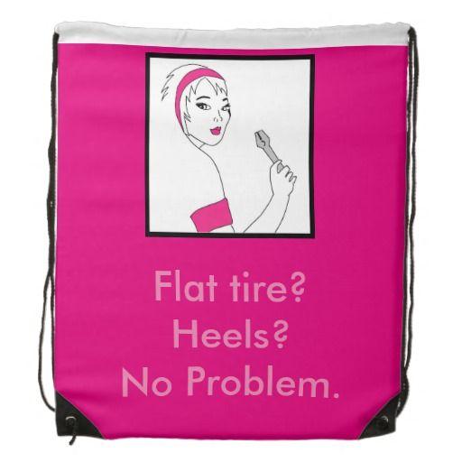 Vehicle Repair Flat Tire Backpack available here: http://www.zazzle.ca/vehicle_repair_flat_tire_backpack-256696841813050911?CMPN=addthis&lang=en&rf=238080002099367221 $17.95 #femalemechanic #girlpower