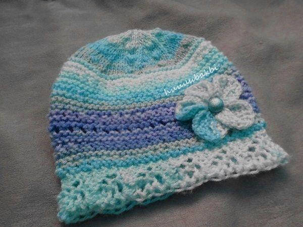 knit baby hat,vintage örgü kız beresi