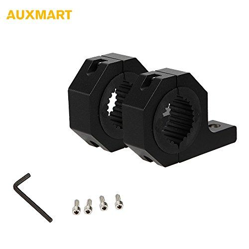 "AUXMART 1.5"" 2"" Mounting Bracket Tube Clamp Light Bar Tube Clamps for LED HID Light Bar (Pack of 2) - Fitment: Please check the tube size before you purchase Apply to most offroad vehicles,cars,Trucks,boats,farm vehicles etc Will fit 2""(without rubber inserts) and 1.5""(with rubber inserts) tubes, Bull bar, roll cage etc Can work with most LED,HID,halogen spotlights/fog lights/driving lights or li..."