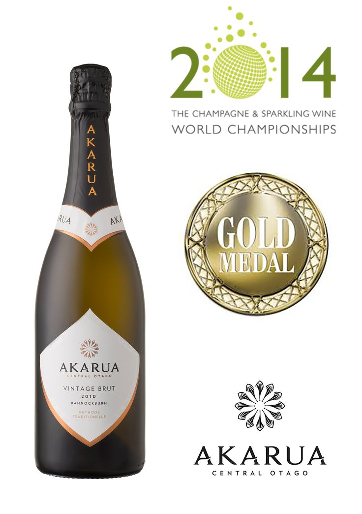 Akarua has been awarded a Gold Medal for 'Akarua Vintage Brut 2010' at the inaugural Champagne and Sparkling Wine Championships.   This award ceremony has been specifically created to provide consumers and trade with the definitive annual guide to the very best Champagnes and Sparkling wines in the world.