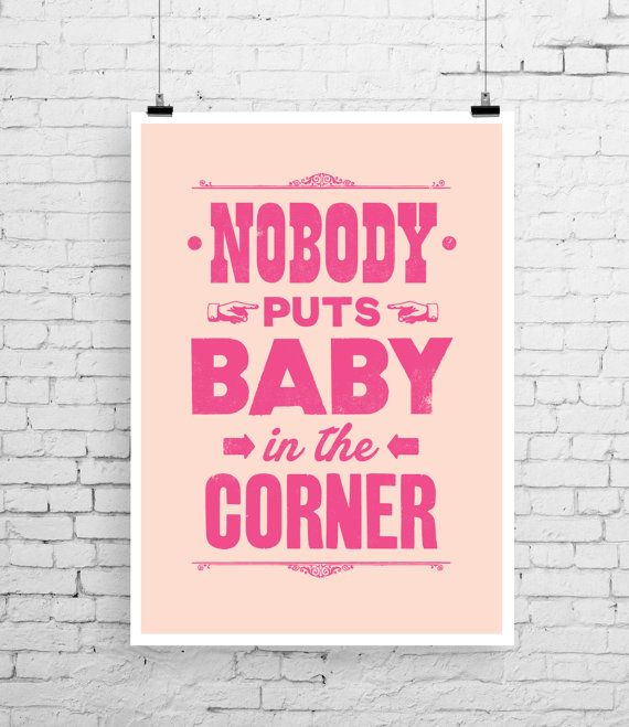 Dirty Dancing poster art Dirty Dancing print film by TheIndoorType, £10.99
