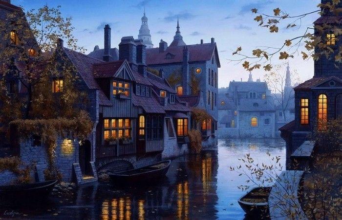 Интересное в творчестве современных художников и фотографов: Городской пейзаж. Евгений Лушпин